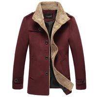 Winter medium-long 2014 male slim trench male woolen overcoat winter male trench men's clothing outerwear