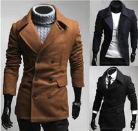 Men's large lapel Chest split personality cloth coat dust coat