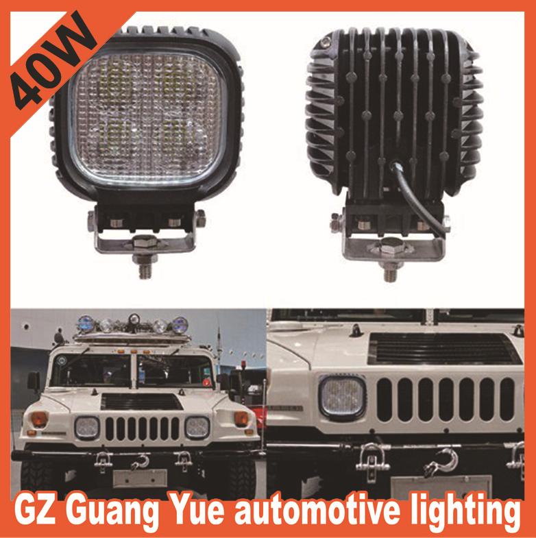 40W LED Work light 4x4 Off Road UTV, ATV,John Deer Tractor, Boat, Can-Am Commander, Better Than Rigid, PIAA, Vision X, KC Lights(China (Mainland))
