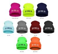 21 Colors BAD HAIR DAY Neon Knitted Hats For Women Casual Gorro Fashion Elastic Beanie 2014 Men Bonnet Winter Skullies Cap