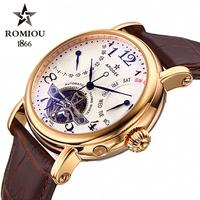 Romeo Seagull tourbillon mechanical movement watches hollow men waterproof automatic mechanical watch male table belt