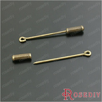 (28452)Full size 40*3.5MM,pin 35*1.2MM,back 11.5*3.5MM Antique Bronze Copper Sharp Eye Pins 30PCS,with back.