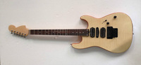 new brand electric gutiar with flame maple with locked tuner in natrual color