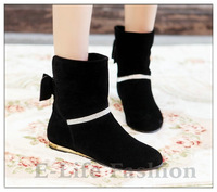 MT-3 Winter New Hot Women Boots Heels Platform Womens Ankle Boots Shoes Low Heel Winter Snow Boots Size 34-43