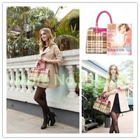 best sale candy color Women Handbag Leather bags Plaid stripes women messenger bag Shoulder fringe handbag