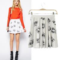 #YZX731 New 2014 Fashion Women Girls' Mini Short Skirts Lovely Denim Skirt Free Shipping