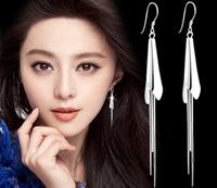 Fashionable tassel female long earrings Callas eardrop   Free Shipping