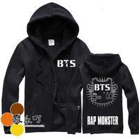 2014 autumn and winter  BTS bangtan boys men and women plus velvet hooded zipper sweater jacket  bts poster bts album bts hoodie