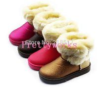 Free Shipping children's short winter snow boots kids boy girl flat winter boots waterproof baby warm shoes D-1757