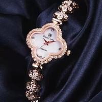 Royal Crown  Watch new female 2014 Royal Crown clovers bracelet watch Ms han edition watch