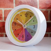 Free Shipping New Home Decorative Fruit Lemon Wall Clock Snooze Desk/Table Clock