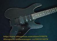 White Black Rosewood Fretboard Mahogany Side Back Headless Floyd Rose Vibrato Tremolo S-S-H Pickups Electric Guitar No.0031-99