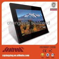 Big screen digital photo frame support music/video OEM muti-functional large size big screen 10 inch digital photo frame
