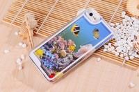 creative little sea quicksand  luminous  mobile phone case for iphone 20pcs