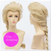frozen  essar elsa fluffy princess style paragraph cos wig  free shipping