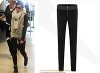 2014 Fashion Corea women's slim spliced printed elastic pencil pants harem trousers elegance pants PA062640
