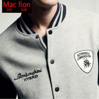 Men's Jacket set lovers baseball uniform spring and autumn thin Outerwear print Jacket male