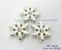 Mix Min Order $10 FC062 10pcs Snowflake DIY floating locket charms for glass locket
