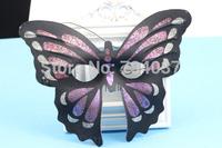 (300 pcs/lot) Handmade Half-face women Butterfly Plastic Masks Assorted Color Party Masks Festive & Party Supplies