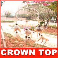 HOT!!!  beautiful dream catcher  10piece/lot ,4colours mixed ,10pcs in opp bag ,Free shipping,Diameter:16cm-9cm-7cm