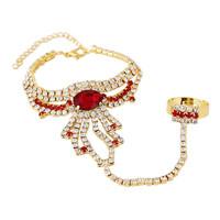 2014 New Elegant Bohemia Women Unique Rhinestone Pendant Tassel Chain Women  Bracelets Bangles,Wedding Jewelry Free shipping
