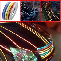 46M*1CM Car styling Super reflective strip car be light garland luminous stickers body decoration full reflectors wholesale