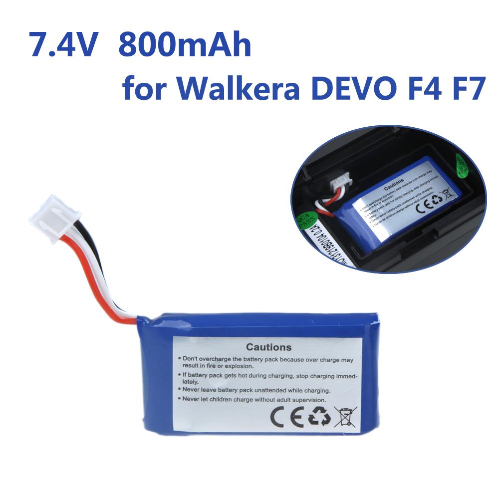 Запчасти и Аксессуары для радиоуправляемых игрушек Walkera DEVO F4 F7 FPV Lipo 7.4V 15 C 800mAh rC RM601 original walkera devo f12e fpv 12ch rc transimitter 5 8g 32ch telemetry with lcd screen for walkera tali h500 muticopter drone