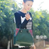 2014 New New Arrival Bag Medium(30-50cm) Zipper Women Handbag Bolsas Genuine Leather Women's Handbag Handmade Old Circuit Bags