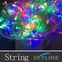 10m long 100 leds PVC transparent lines led string alight ,Christmas decoration lamps ,AC110/220v options ,many color to choose