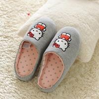 Sanrio Hello Kitty new 2014 Women Home Slippers Hello Kitty New Fashion Women's Wistiti Indoor Slippers Women Flats Sandals