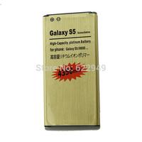 2PCS High Capacity 4350mAh Gold Li-ion Golden Business Battery For Samsung Galaxy S5 SV 5 V i9600 Batterie Batterij Bateria