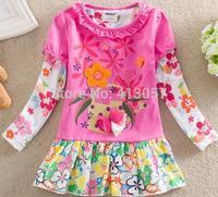 Wholesale children's clothing Spring 2014 new European style girls long-sleeved dress cakeF676