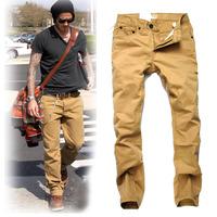 Beckham khaki casual pants male slim autumn thin plus size trousers tooling cloth trousers