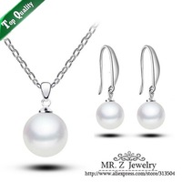 Hot Sell Fashion Wedding Dress Classic Bridal Necklace And Earring Pearl Jewelry Set Free Shipping