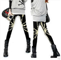 A Korean flag candy color printing and cashmere thickening of nine minutes of PANTS LEGGINGS wholesale D225