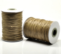 Free Shipping 1 roll(180M) Light Coffee Color Waxed Cotton Cord 1mm for Shamballa Bracelet/ Necklace Wholesale