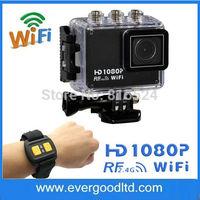 Gopro style Action Sport DVR Diving 30Meter Waterproof Camera 1080P Full HD AT200 WIFI REMOTE Helmet Camera Sport Cameras