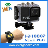 Gopro style Action Sport DVR Diving 30Meter Waterproof Camera 1080P Full HD AT200 WIFI REMOTE Helmet Camera Sport Cameras