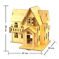 3d puzzle wooden toys building model for children kid house jigsaw puzzled kit free shipping