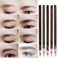 Hot Selling Soft Crayon Waterproof Eyebrow Eyeliner Pencil 5 Colors Fashion Women Beauty Makeup Eyebrow Enhancer MU-047\br