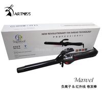 Professional Hair Curler Styler#055 25mm Dual Voltage Nano Titanium Iron Ceramic Curling LCD Digital Display Free shipping