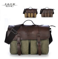 2014 New Brand Vintage Men Canvas Messenger Bags Fashion Men's High Quality Casual Handbags / Briefcases Leisure Travel Bags