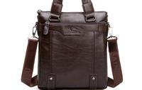 Hot Sale Men's Fashion Leather Messenger Shoulder Bags Vintage Briefcase Office Bag Brand Designer  High Quality