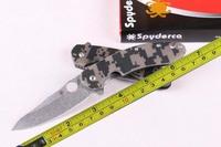 FREE shipping 9'' New G10 Handle Stone Wash Pocket Folding Knife CT204