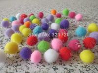 200PCS/LOT.Glitter pompoms,Chenile pom-pom,DIY accessories,Shine ball, Doll accessories,Craft material.20mm,Free shipping.