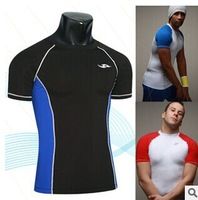 Free Shipping New Style Hot Selling Men Tights T-shirt Sports Quick Dry Male T Shirt Fitness Running Clothing