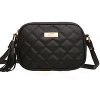 New fashion black  tassel zipper plaid small women handbag shoulder bags women messenger bags women bag bolsas Free shipping