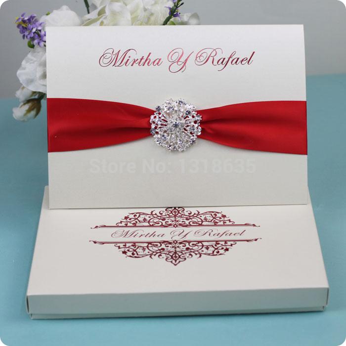 Embellished buckle convidam cartões do convite do casamento caixa de papel de presente personalizado(China (Mainland))