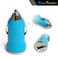 Universal 10pcs Mini USB Car Charger Power Adapter 5V 1A Free A USB Data Cable for iPhone5S 4 Samsung Galaxy S3/S4 Mobile Phone