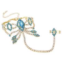 8 colors 2014 New Elegant Bohemia Women Unique Rhinestone Tassel Chain Women  Bracelets Bangles,Wedding Jewelry Free shipping